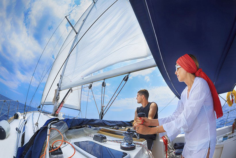 Sailing a charter boat overseas