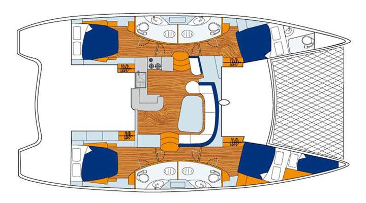 Floor plan Leopard 464